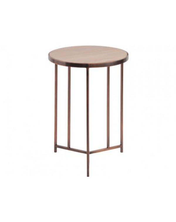 Libra Alpine Sandstone And Metal Side Table